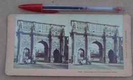 Stéréo 208, Copyright 1897, By BW Kilburn 1219, Triumphal Arch Of Constantine, Rome, Bon état - Stereoscopic