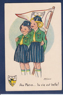 CPA Scoutisme FNP Scout éclaireur Circulé Marie Janimet - Scouting
