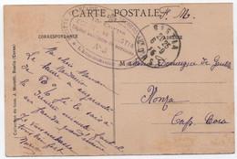 CORSE Carte Postale Franchise Militaire Marque SFSB  Hôpital Auxiliaire N°5  15e Corps Comité De BASTIA 1915 RR - Guerre De 1914-18