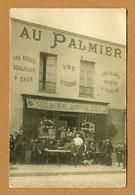 """Café - Restaurant """" AU PALMIER """" - PUBLICITE """" ABSINTHE DONIZEAU """"  Vins Du CHER, SAUMUR, TOURAINE - A Identifier"""