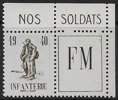 France F.M. N° 10A * *  -- Cote : 16 € - Franchise Stamps