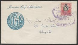 SPORT - GOLF - VERY RARE COVER FROM JAMAICA 1957 JGA JAMAICA GOLF ASSOCIATION - Golf