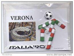 CARTOLINA A RILIEVO MONDIALI DI CALCIO ITALIA '90 - VERONA 1 - Football