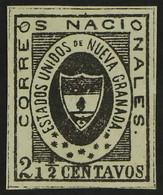 SPERATI FORGERY COLOMBIA - NEW GRANADA 1861 2½c Black Sperati Forgery, Scott 13, Very Fine Unused No Gum, Four Large Mar - Non Classificati