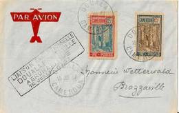 Liaison Exceptionnelle DOUALA-BRAZZAVILLE - 15 Juillet 1937 - 80 Plis Transportés - Muller N° 17 - Etat +++ - Airmail