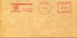 65740 Austria Red Meter Freistempel,ema,1982 Vienna International Centre UNRWA - Marcofilie - EMA (Print Machine)