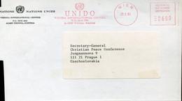 65742 Austria Red Meter Freistempel,ema,1984 Vienna, UNIDO  Vienna International Centre - Marcofilie - EMA (Print Machine)