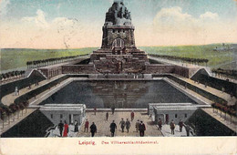 CPA ALLEMAGNE GERMANY SAXE LEIPZIG VOLKERSCHLACHTDENKMAL MONUMENT DOS DIVISE ECRIT 1920 - Leipzig