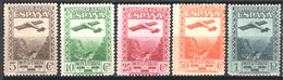 Spagna 1931 Monserrat Aerea Unif.A84/88 */MH VF/F - 1931-50 Unused Stamps
