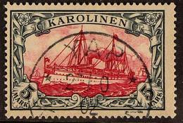 "CAROLINE ISLANDS 1900 5m Carmine & Black (Michel 19, SG 25), Fine Used With Fully Dated ""Yap"" Cds Cancel, Very Fresh & A - Non Classificati"