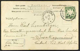 """GERMAN SOUTH WEST AFRICA 1901 Incoming Picture Postcard From Bavaria Addressed To A Member Of The """"Eisenbahn - Kommando"""" - Non Classificati"""