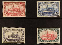 """GERMAN SOUTH WEST AFRICA 1906-19 """"Yacht"""" (wmk Lozenges) 1m To 5m, Scott 31/34, Never Hinged Mint. Fresh And Attractive.  - Non Classificati"""