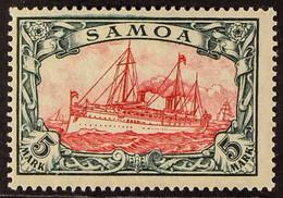 SAMOA 1915-19 5m Carmine & Black 26x17 Holes Peace Printing, Michel 23 I A, Fine Mint, Very Fresh. For More Images, Plea - Non Classificati