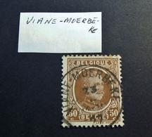 Belgie Belgique - 1922  OPB/COB  N° 203 -  50 C  - Obl.  VIANE - MOERBEKE - 1927 - 1922-1927 Houyoux