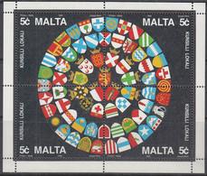 MALTA Block 13, Postfrisch **, Schaffung Von Gemeinderäten, 1993 - Malta
