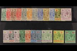 1921 Geo V Set Complete, Wmk Script CA, SG 112/34, Very Fine Mint. (22 Stamps) For More Images, Please Visit Http://www. - Grenada (...-1974)