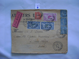 FRANCE - LETTER SENT FROM ST.-ETIENNE TO PORTO ALEGRE (BRAZIL) IN 1928 IN THE STATE - Lettres & Documents