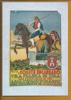 Postal Com O Cartaz Da Festa Do Colete Encarnado De 1956, Vila Franca De Xira. Cavalo. Campino. Ribatejo. Santarém - Santarem