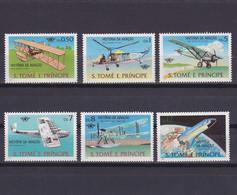 SAO TOME AND PRINCIPE 1979, Mi# 592-597, Space, Plane, MNH - Sao Tome En Principe