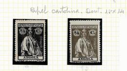 ANGOLA STAMP - 1914 CERES P.CARTOLINA (1918-21) D:15 X 14 Md#142/3 MH-MNH (LAN#77) - Angola