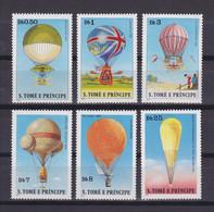 SAO TOME AND PRINCIPE 1979, Mi# 619-624, Balloons, MNH - Sao Tome En Principe