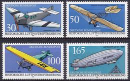 Allemagne (RFA) YT 1354/57 Mi 1522/25 Année 1991 (MNH **) Avion - Plane - Nuovi