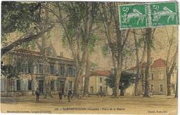 33 GIRONDE SAINT SYMPHORIEN PLACE MAIRIE 1909   ANIMATION JOLI PLAN - Altri Comuni