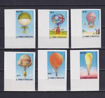 SAO TOME AND PRINCIPE 1979, Mi# 619-624, Imperf, Balloons, MNH - Sao Tome En Principe