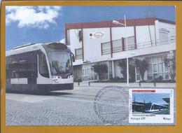 Subway Train From Almada. Railways. Metro Vanuit Almada. U-Bahn Von Almada. Train De Métro D'Almada. Chemins De Fer D'Al - Tramways