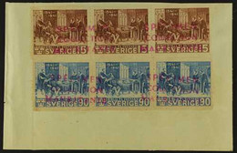 1941 MAURITANIA UPU SPECIMENS For The 1941 400th Anniv Of Bible 15 Ore And 90 Ore Set, SG 248/249, In Horizontal Strips  - Non Classés