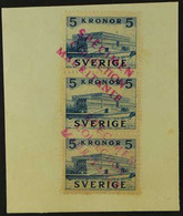 1941 MAURITANIA UPU SPECIMENS For The 1941 5kr Blue Royal Palace, SG 250, In A Vertical Strip Of Three Affixed To A Smal - Non Classés