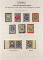 LOCAL POST - MALMO 1888-1926 Fine Mint And Used (all Mint Before 1926) Collection Nicely Written Up On Album Pages. With - Non Classés