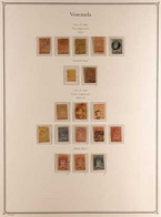 1859-1905 INTERESTING MINT & USED COLLECTION On Hingeless Pages With Good Imperf Classics With Many Shades, Postmark Int - Venezuela