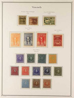 1910-1947 COMPREHENSIVE MINT COLLECTION In A Hingeless Album, All Different, Highly COMPLETE For The Period, Some Stamps - Venezuela