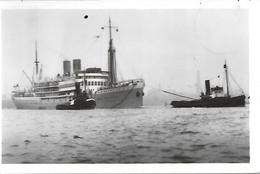 CPA-1932--PAQUEBOT-BELGE-S/S LEOPOLDVILLE- Dans Le Fleuve-Timbré Congo Belge-TBE/RARE - Piroscafi