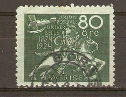Suède 1924 - Cinquantenaire De L'U.P.U. - YT 189° - Oblitérés