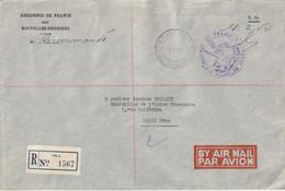 Lettre Recommandée Administrative De PORT-VILA En F.P.- Cachet De La Résidence De France Pour J. FOCCART, M. Françafriqu - Altri