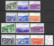 Turkey 1958 - Mi 1596-1604,mint Never Hinged(**MNH) - Unused Stamps