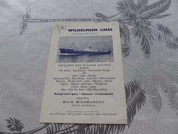 472 - Wilhelmsen Lines, Olso, Norway,  Ligne Régulière - Barche