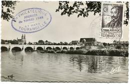 FRANCE CARTE MAXIMUM DU N°794 ETIENNE ARAGO JOURNEE DU TIMBRE 1948 AVEC OBL JOURNEE DU TIMBRE 6-3-1948 TOURS - 1940-49