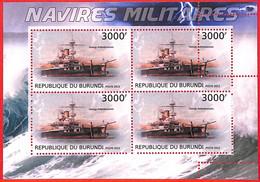 A3823 - BURUNDI, Error, 2012, МISPERF, MINIATURE SHEET:  Military Ships, Navy, Boats - Ships