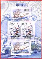 A3825 - BURUNDI, Error, 2012, МISPERF, MINIATURE SHEET: Sailing Boats, Olympics - Ships