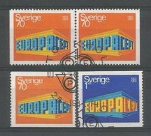 Sweden 1969 Europa Y.T. 615/616+615b (0) - Oblitérés