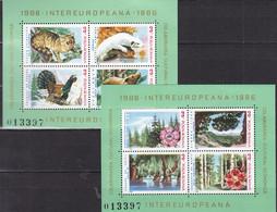 RUMÄNIEN  Block 223+224, Postfrisch **, INTEREUROPA 1986 - Blocks & Kleinbögen