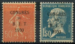France (1930) N 264 à 265 * (charniere) - Neufs