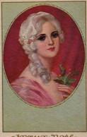 Illustrée Dorée,  Genre CORBELLA : Jolie Femme Au Houx . - Femmes