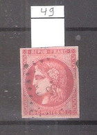 FRANCE - YT.49b - A Voir - CV:380.00 € - 1870 Emission De Bordeaux