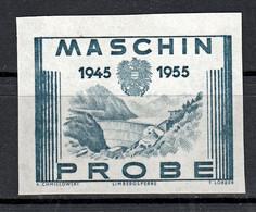 Probedruck Test Stamp Specimen Maschinprobe Staatsdruckerei Wien Mi. Nr. 1016 - Ensayos & Reimpresiones