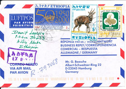 Ethiopia Registered  Air Mail Cover Sent Express To Germany 22-11-2000 - Ethiopia