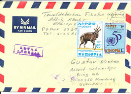 Ethiopia Air Mail Cover Sent Express To Germany 25-9-2000 - Ethiopia